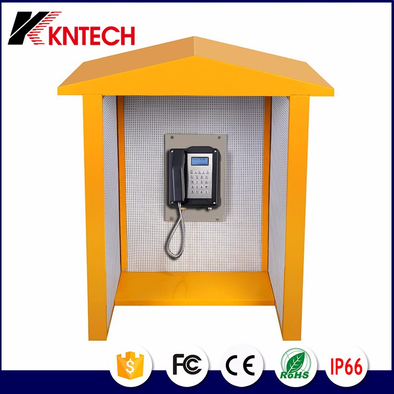 acoustic telephone booth noise reduction 23dB soundproof booth rf-15 kntech 1