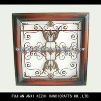 decorative wrought iron square wall hanging art