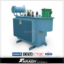 3 phase transformer 1500 kva oil immersed power transformer