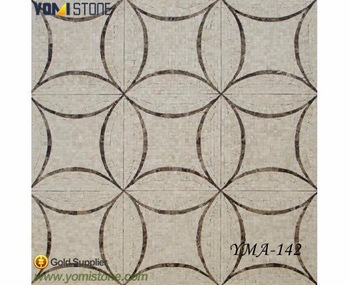 Golden Select Cesar Blue Water Jet Irregular Gray Marble Mosaic Tile For Kitchen
