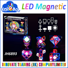 2016 educational Kid Toys Magformers Building Block Construction Set 72 Piece LED Light Magic Magnetic Ferris Wheel Toy