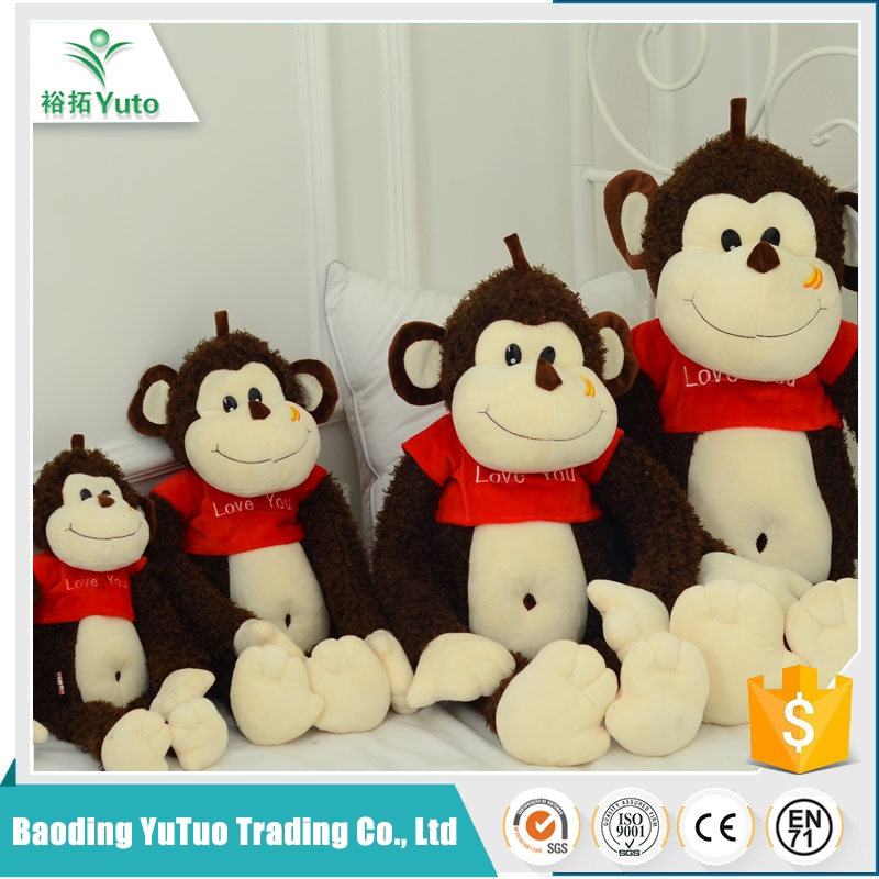 Cheap Chinese Factory Price personlized plusht monkey