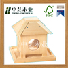 Handicrafted hanged unfinished cheap wood bird house for wood craft