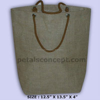 Recyclable Laminated Jute Tote Bag