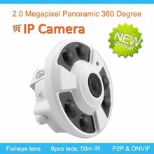 Ceilling Panoramic 360 degree 1080P Fisheye IP Camera