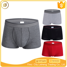 Classical design front fly opening cotton underwear men boxer briefs
