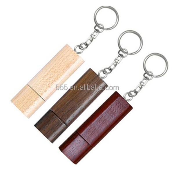 eco friendly bulk cheap bamboo usb flash drive key chain
