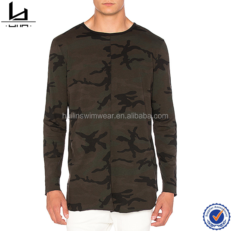Custom t shirt clothing army color mens dress shirts 100% cotton fashion men style long sleeve t shirt wholesale China