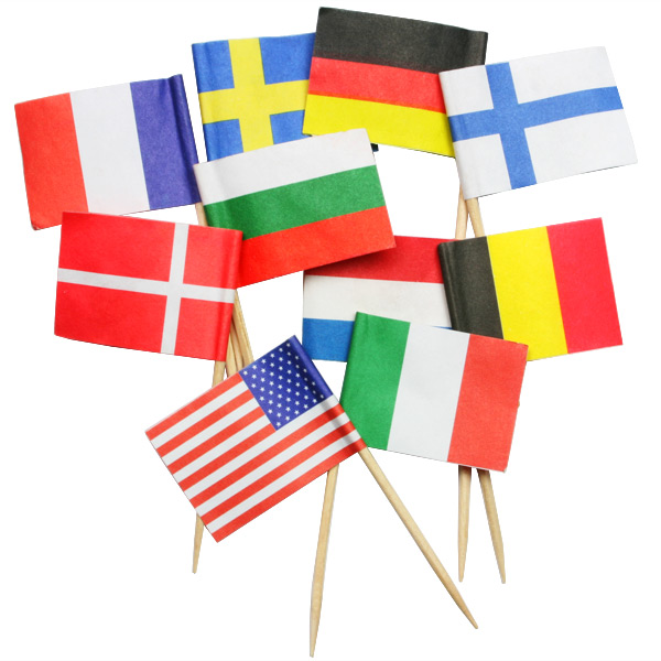 wholesale christmas party decorative flag toothpicks