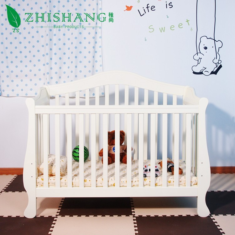4-in-1 Convertible Baby Crib with Toddler Rail