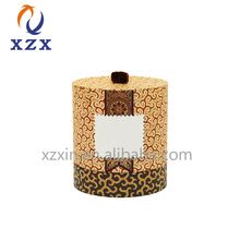 wholesale custom logo paper cosmetics luxury round gift box set packaging for candle