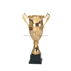 Golden Cheap Large Metal Sports Trophy Cup Awards
