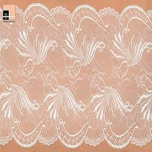 2017 wholesale white elastic stretch lingerie french lace fabric