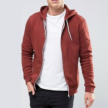 cheap blank french terry custom hoodies plain wholesale zipper up hoodies manufacturer