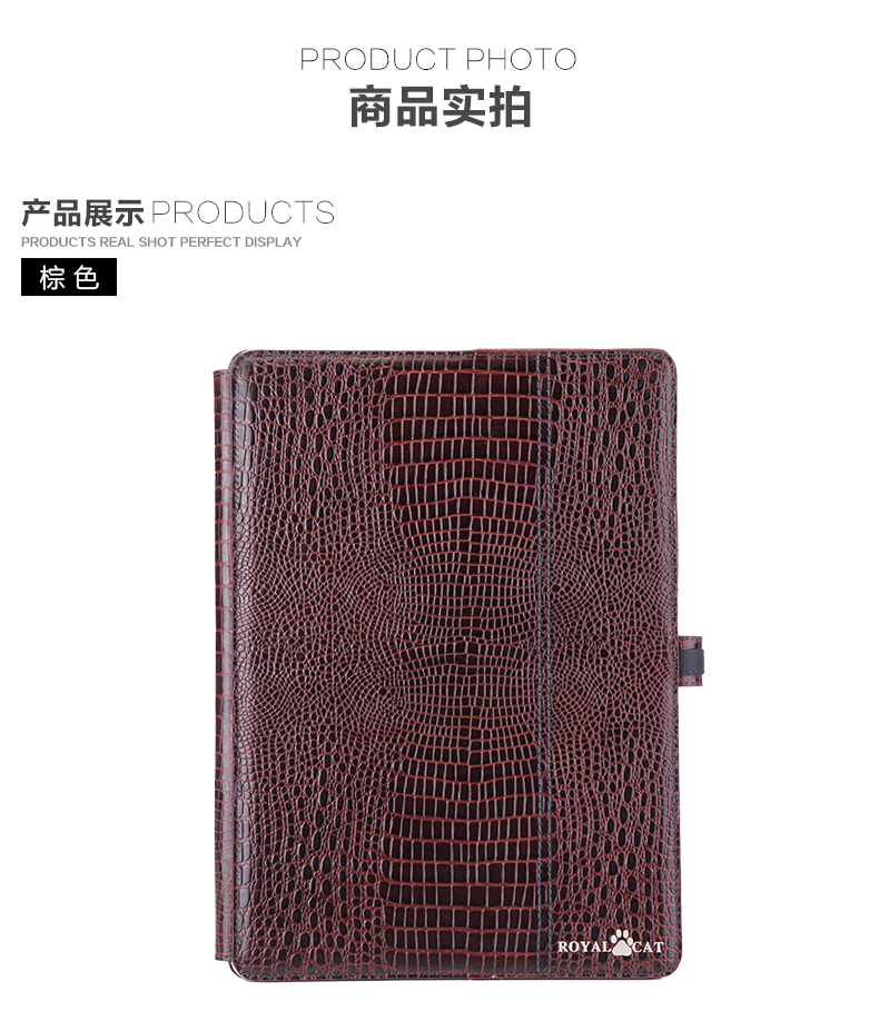 PR2763B china factory genuine leather tablet case for ipad air 1/2/3/pro with card wallet holder and stand