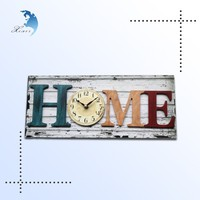 Newest innvoative vintage clock theme rectangular shape door mounted decoration clock