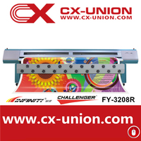 fy union hot sale item Infinity FY-3208R automatic ink refill system digital advertising flex solvent printing machine