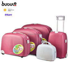 BUBULE airport 4 piece cheap luggage suitcase bag set luggage and truck set with cosmetic box DX507