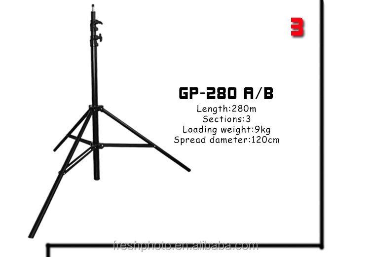 2.8m photography equipment ordinary spring / air cushion studio light floor stand heavy duty tripod