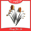 MSQ 9pcs New Arrival Hot Sale Golf Brushes Oval Makeup Brush Set