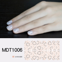 MELODI adhesive transparent nail art decals, nail polish wraps, manicure stickers