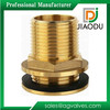 taizhou factory 15mm od yellow brass color forged brass compression fitting straight threaded water tank connector