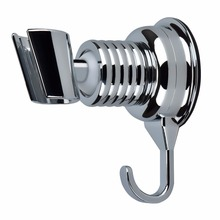 Shower Head Holder, Angle Adjustable Vacuum Suction Cup Handheld Shower Bracket Bathroom Wall Head Holder Mount with Towel Hook