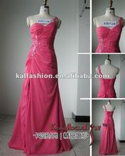 EB1328 Hot Pink Celebrity chiffon one strap Evening Dresses Bridesmaid Dress 2015