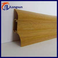Floor skirting board/PVC baseboard/Plastic kitchen plinth