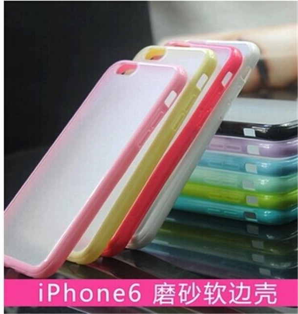 2014 New Products TPU +PC Solid Color Ultra Slim Cheap Wholesale Cell Phone Case for Apple iphone 6 Bulk Buy from China