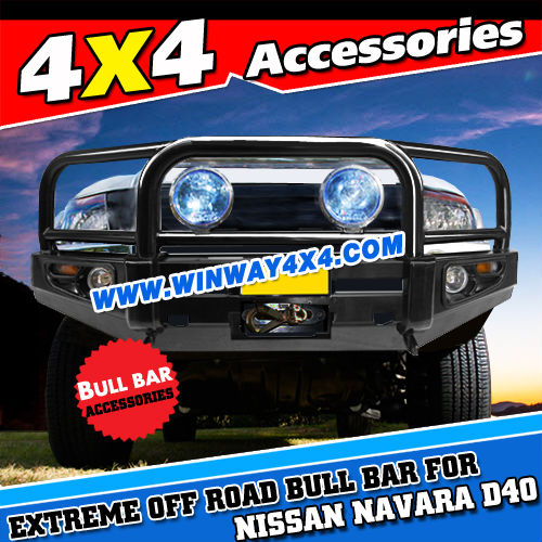 4X4 OFFROAD WINCH BULL BAR FOR NISSAN NAVARA D40