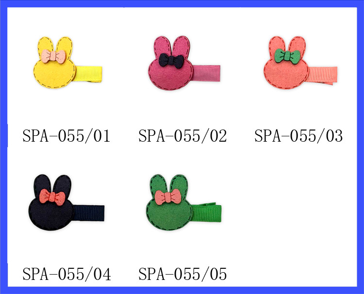 Fancy Girls Hair Clips Easter Day Lovely Rabbit Metal Hair Clips