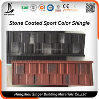 Low price Types of roofs stone coated metal roof tile / asphalt roofing shingle
