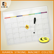 Planners Monthly Magnetic Refrigerator Calendar Fridge Magnet Dry Erase Whiteboard