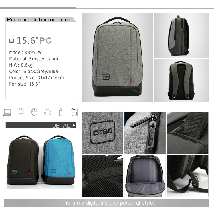 Fashionable school bags trendy laptop backpack