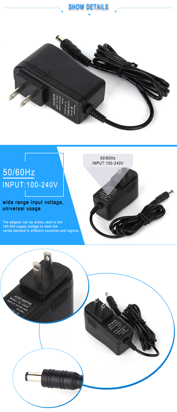 PC-050020 5V 2A power adapter 5V 10W ac dc power charger