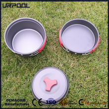 Mutifunctional Utensil Camping Pot Sets Portable Non-stick Pots Frying Pan Bowl 1-2 Person Hiking Tableware