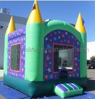 inflatable moonwalk art panel,commercial jumping castles sale with good price M1111