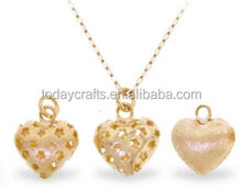 Hot Selling New Design Factory Price interchangeable large brass bead pendant necklace