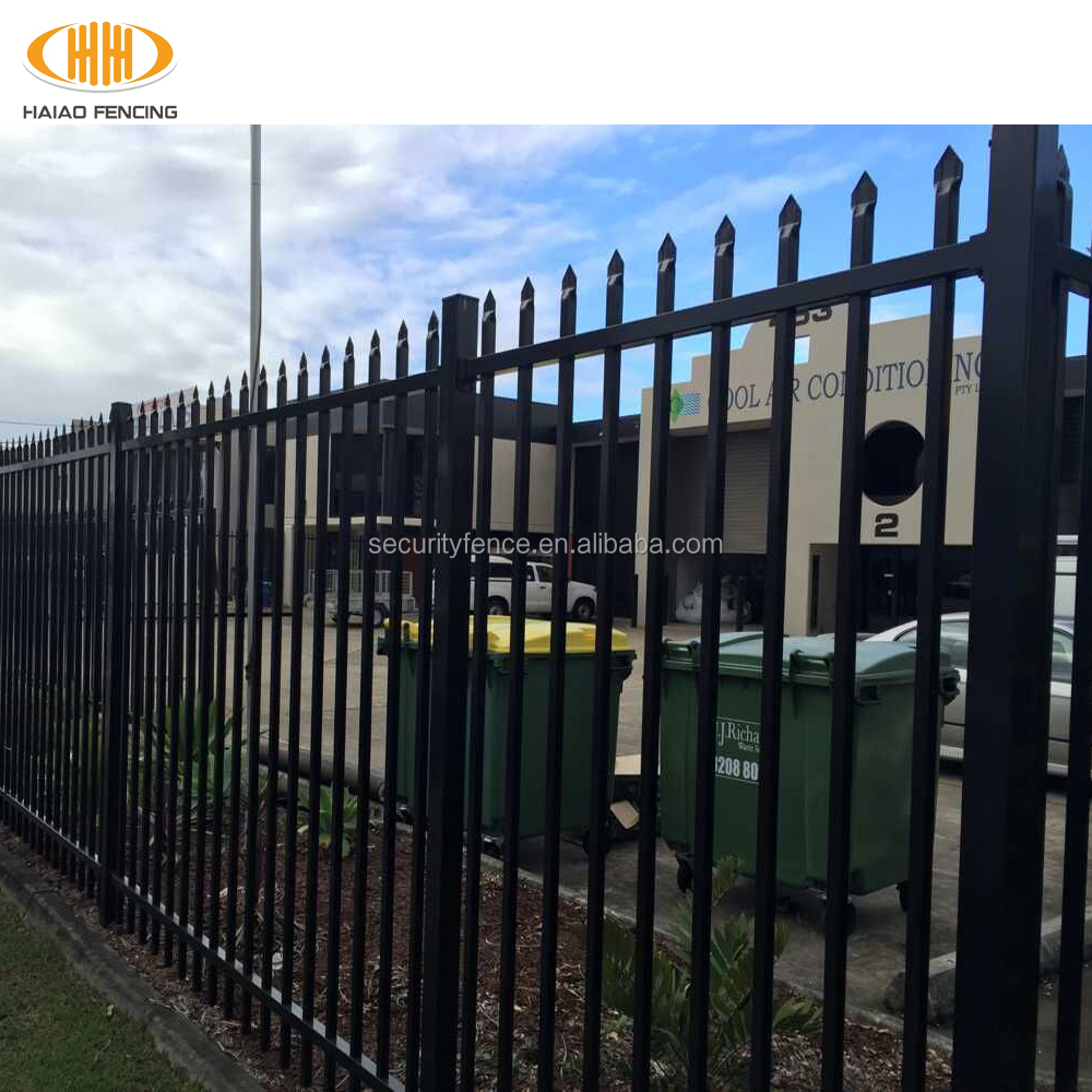 Cheap Wrought iron or steel fencing / Spear top fence Wrought iron or steel fencing