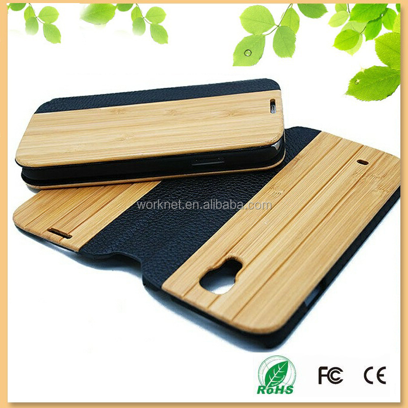 factory cheap price bamboo leather flip cover case for samsung S4,for samsung galaxy s4 cover,for Samsung galaxy S4 leather case