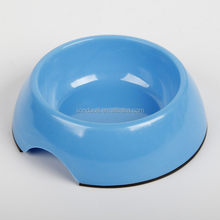 Classic removable stainless steel bowl in high gloss anti-skid round melamine stand for dog or cat