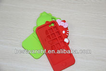 Cat shape silicone case for iphone/silicone cover for iphone/silicone bag for iphone
