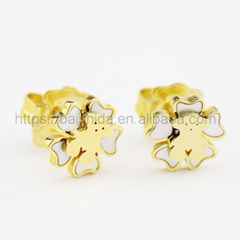 cute animal shaped bear stud earrings kids fake jewelry