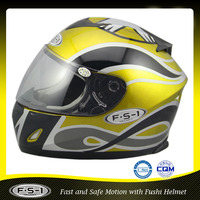 Colourful custom full face racing motorbike helmet