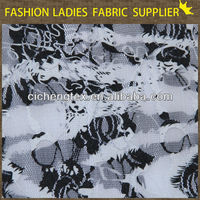 new fashion nylon spandex printed lace fabric wholesale printing mesh voile african lace fabric
