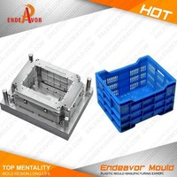 Factory directly sales quality assurance design and processing injection turnover crate plastic moulding buyer