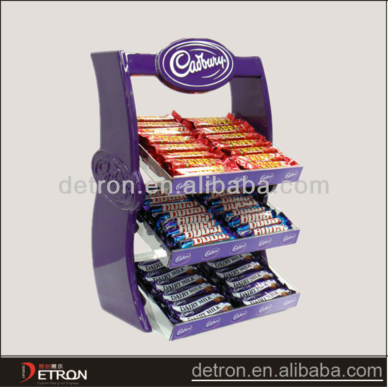 Fashional promotion hot sales Acrylic chocolate display stand