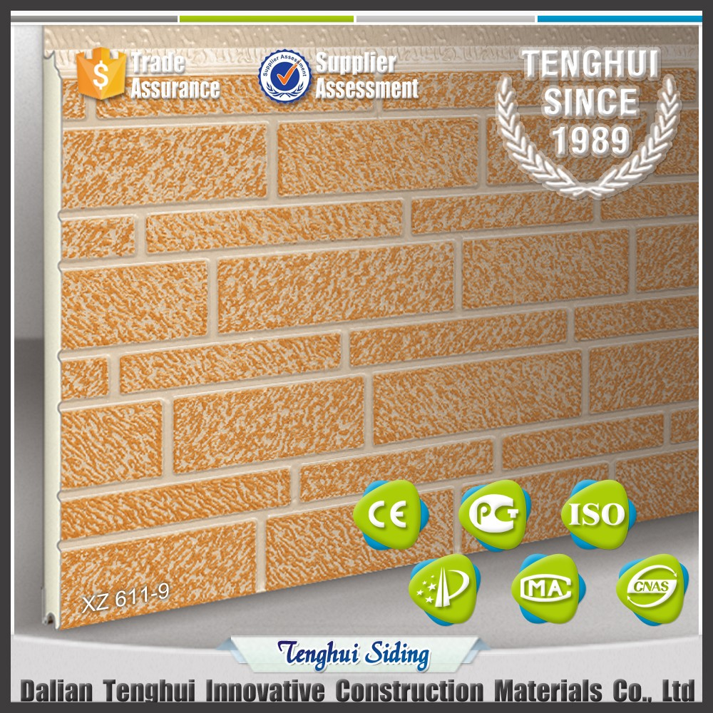 Low price high quality fine brick series decorative metal exterior / outside wall panel/Pu sandwich Panel