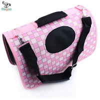 Multi-functional Pink Pet Bags Foldable Oxford Cloth Pet Training Carrier